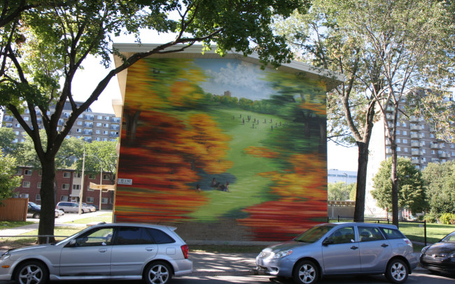 Phillip Adams Montréal Fall Mural