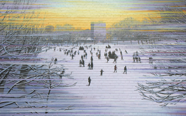 Phillip Adams Montréal Winter Mural