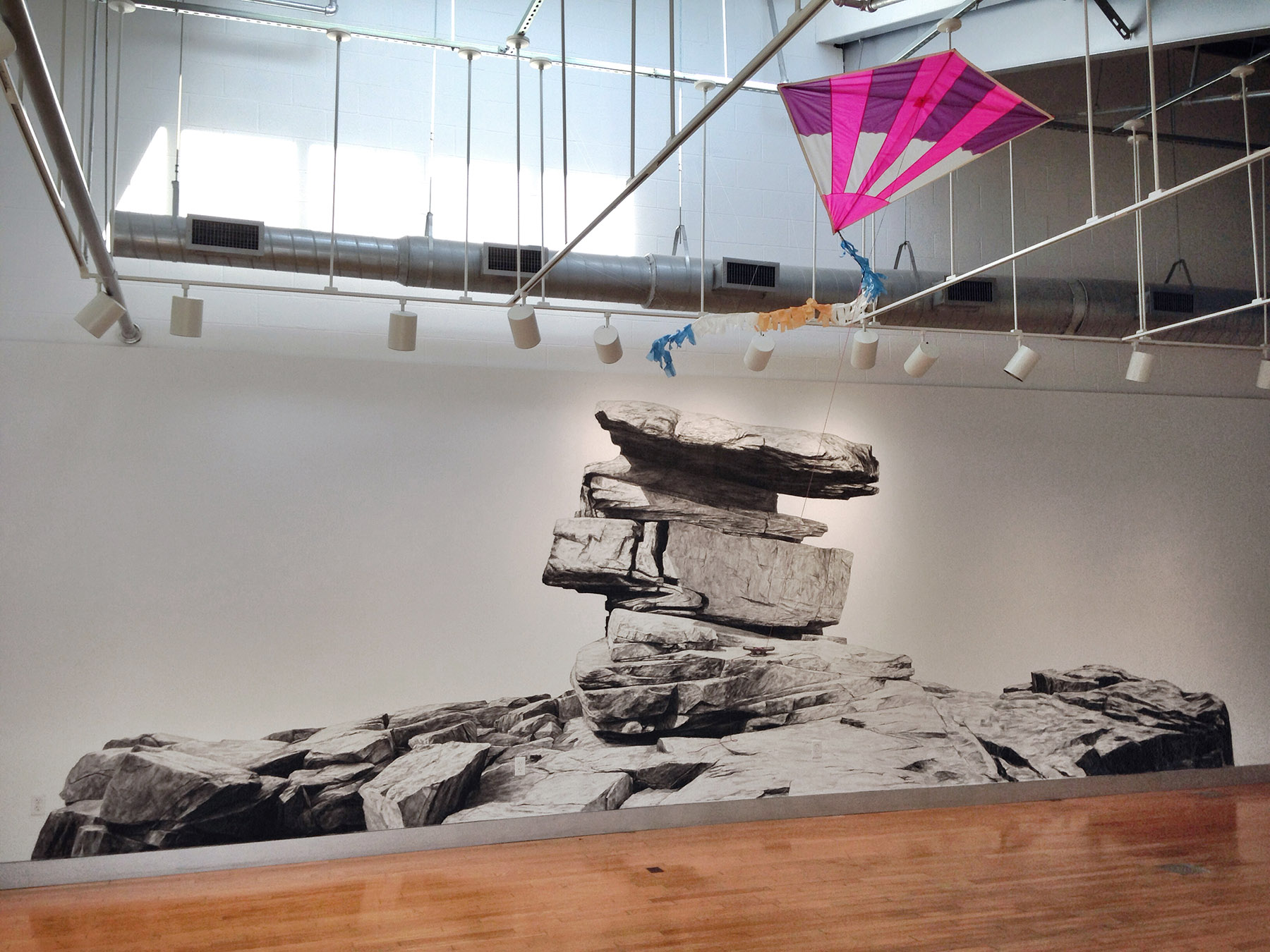 Phillip Adams Kite Line installation at Dickinson College