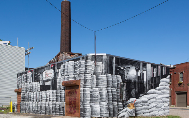 Phillip Adams Philadelphia Industrial Distillery Mural