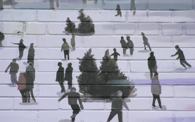 Phillip Adams Montréal Winter Mural