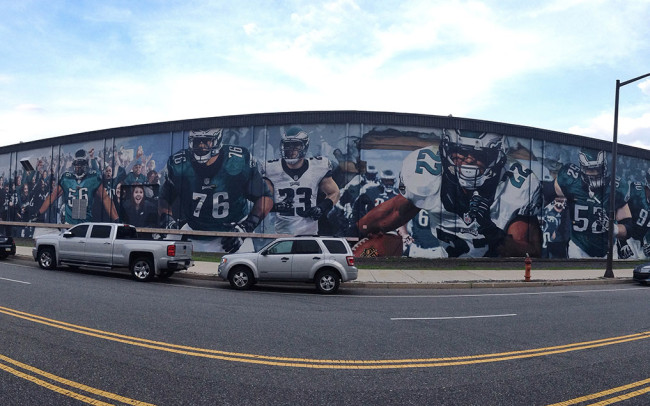 Phillip Adams Philadelphia Eagles Mural